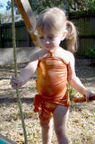 Baby Bathing Suit Metallic Orange Wrap Around Swimsuit Newborn Toddler Girls One Size Swimwear - hisOpal Swimwear - 6