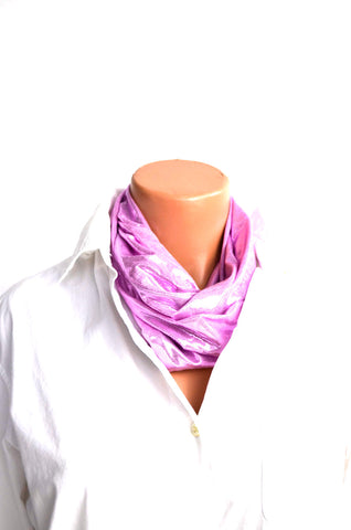Metallic Baby Pink Infinity Scarf Lightweight Layering Fashion Piece Womens Christmas Ascot