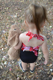 Baby Bathing Suit Red Bandana and Black Wrap Around Swimsuit Girls Swimwear Newborn to 3T - hisOpal Swimwear - 5