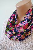 Infinity Scarf Floral Print Cravat Lightweight Scarf Head Wrap Unisex Ascot Christmas Gift Under 20 - hisOpal Swimwear - 4
