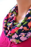 Infinity Scarf Floral Print Cravat Lightweight Scarf Head Wrap Unisex Ascot Christmas Gift Under 20 - hisOpal Swimwear - 1