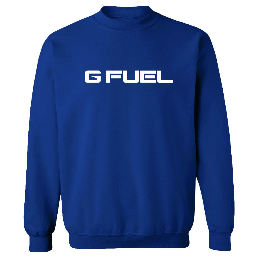 G FUEL Logo Crewneck - Wht on Ryl