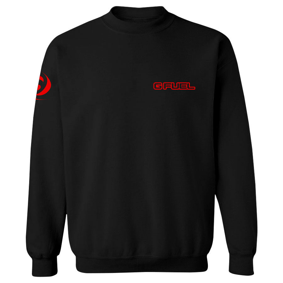 G FUEL Maximize Crewneck - Red on Blk
