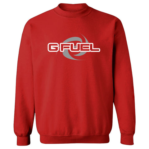 G FUEL Supercharge Crewneck - WhtGry on Red