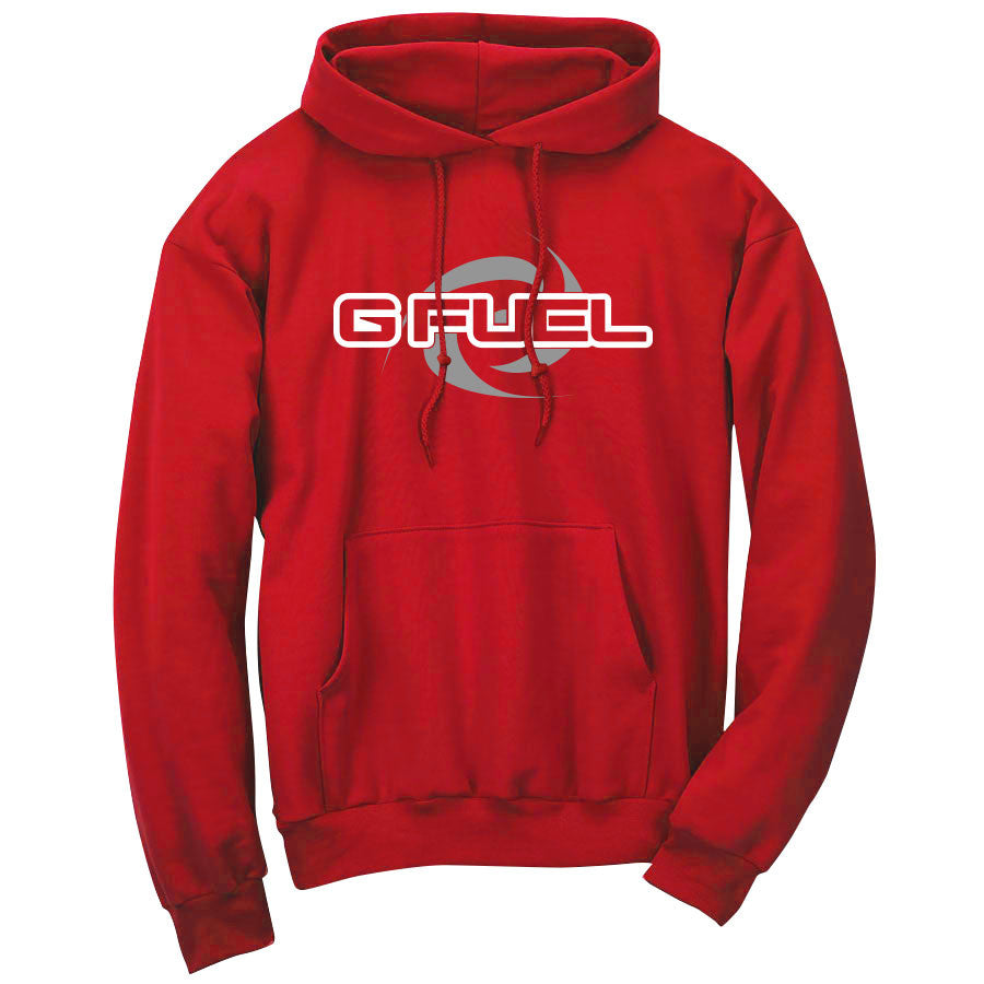 G FUEL Supercharge Hoodie - WhtGry on Red