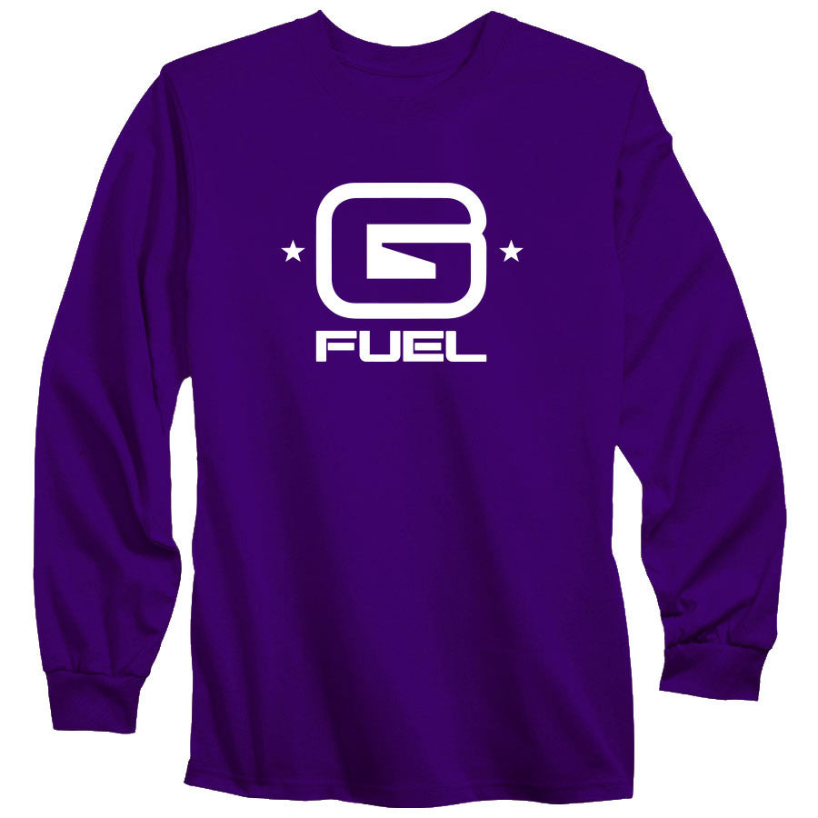 G FUEL G Long Sleeve - Wht on Prp