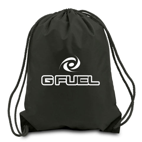 G FUEL Cinch Bag - Wht on Blk