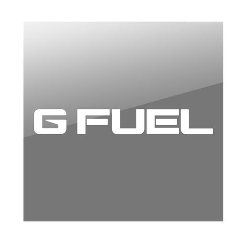 "G FUEL 11"" Logo Vinyl Sticker - Wht"