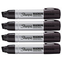 Sharpie Pro Magnum Professional Permanent Marker, Oversized Chisel Tip, Black Ink, Pack of 4