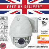 "2.0MP 1080p HD Mini 4"" PTZ IR Speed Dome 10x optical zoom (Sony CMOS) ONVIF - Hikvision NVR Compatible ,  - ExactCCTV, Exact CCTV  - 1"