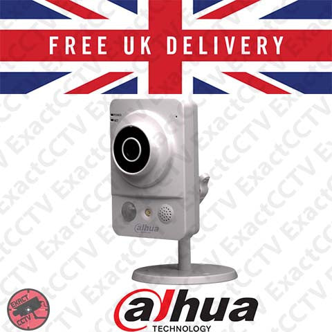 Dahua DH-IPC-K200W (2MP 1080p Indoor IR Cube Wireless Camera) with FREE Power Supply - UK Model