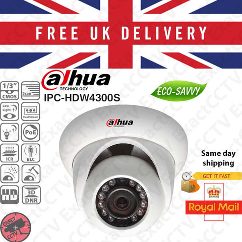 ExactCCTV Dahua DH-IPC-HDW4300S 3MP UK