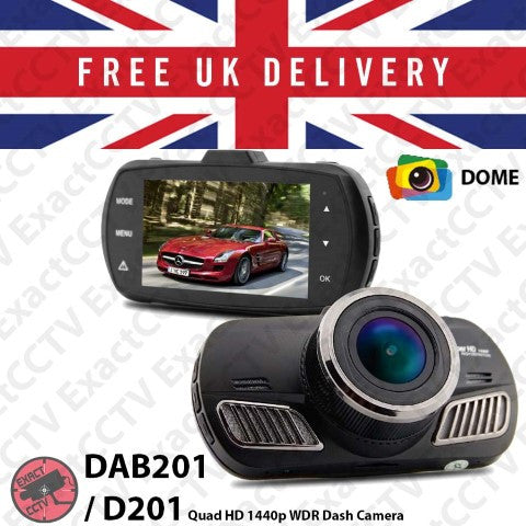 Dome DAB201 GPS Quad HD 1440p Car Dash Camera with GPS - UK model