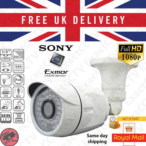 2MP / 1080p HD Mini Bullet PoE CCTV IP Camera (Sony Exmor Sensor) ,  - ExactCCTV, Natural Dogz