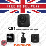 Koonlung C81 Super HD 1296p Car Dash Camera with GPS UK