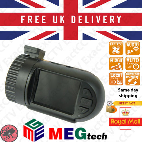 Mini 0801 2MP (1080p) Car Dash Camera & DVR with GPS - Updated 2015 UK model