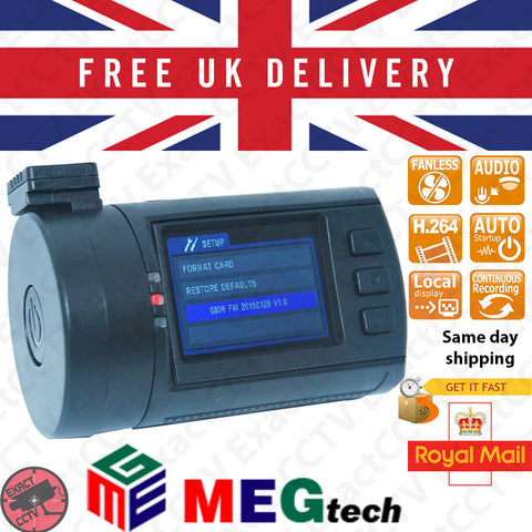 Mini 0806 4MP (1296p) Car Dash Camera & DVR - GPS option - Updated 2016 UK model