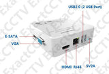 Super Mini NVR (Full HD 2MP / 1080p) ONVIF - HDMI and VGA Output 8-channel