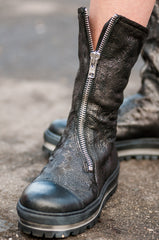 Chameleon Leather Boots