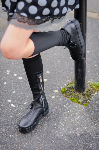Love Neoprene and Leather Boots