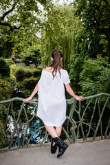 Slouchy White What We Love Tunic