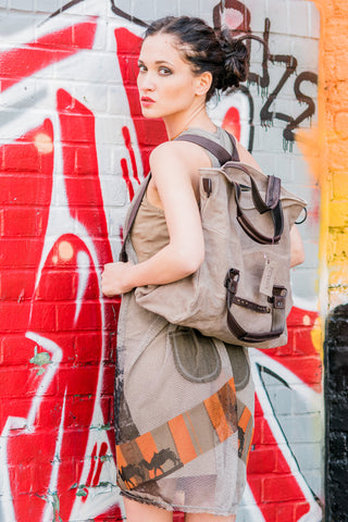 Adds Different Style Leather Tote Bag/Rucksack/Bagpack