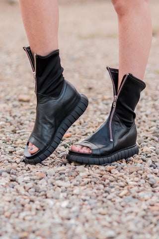 Neoprene and Leather Summer Love Boots/Shoes