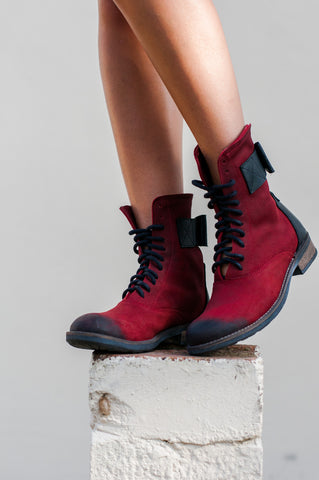 Stomp Style: Elegant Deep Red Boots