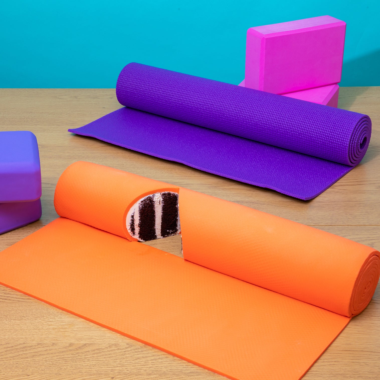 Yoga Mat & Blocks Cake