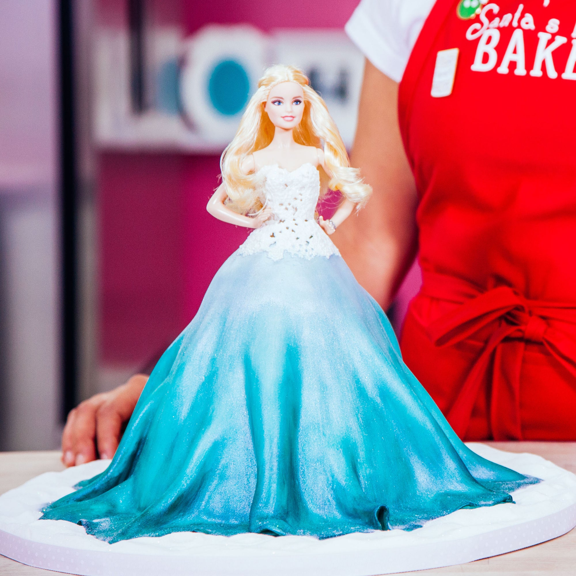 Holiday Barbie Cake