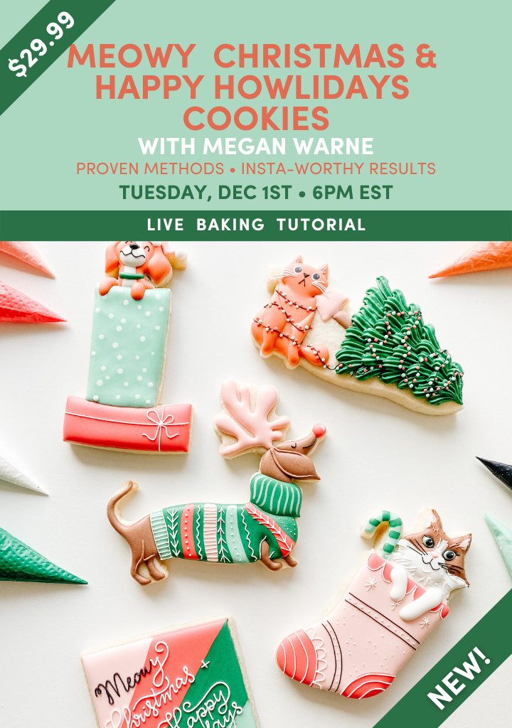 Meowy Christmas & Happy Howlidays Cookies Live Tutorial