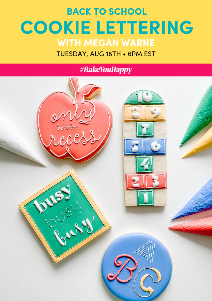 Back To School Cookie Lettering Live Tutorial