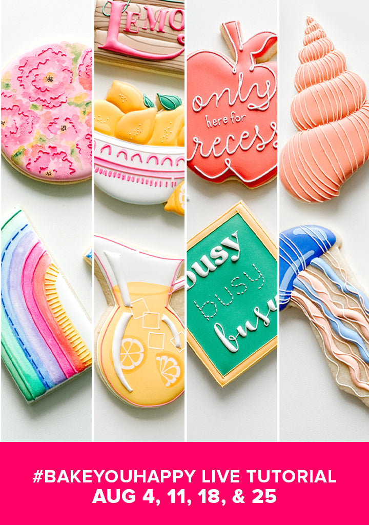 4 Pack August Cookie Tutorial  Bundle