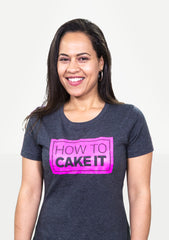 New! How To Cake It NEON Block Logo Tee - *LIMITED QUANTITIES!*