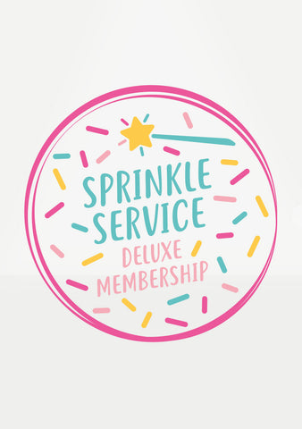 Deluxe Sprinkle Service + Cake Tee Club Membership - Join the sweetest subscription ever!