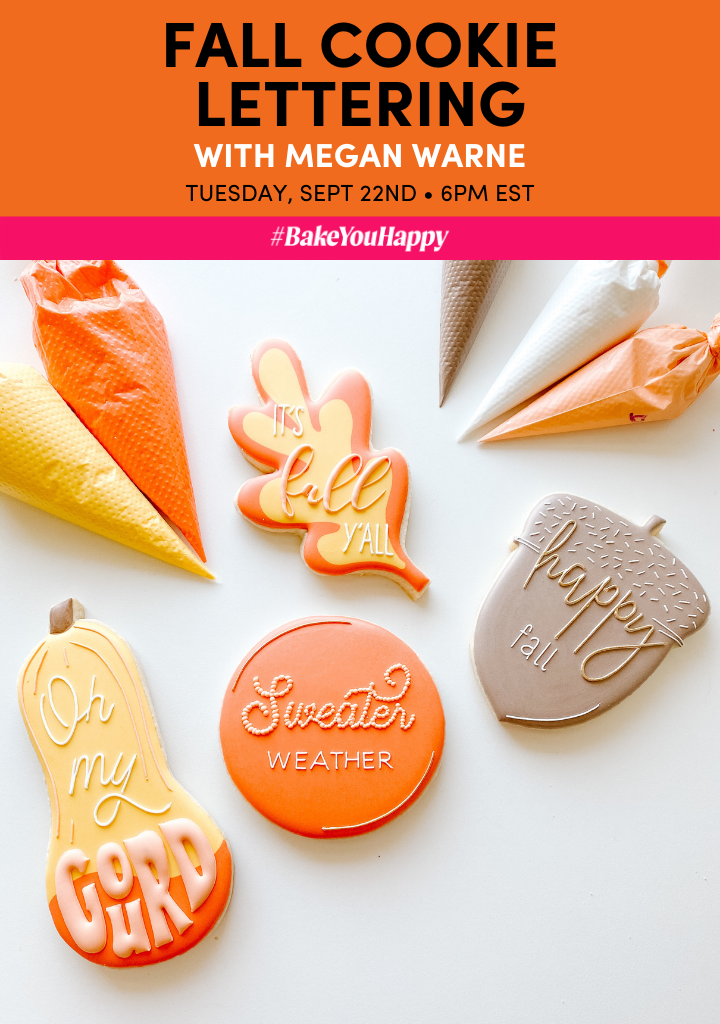 Fall Cookie Lettering Live Tutorial