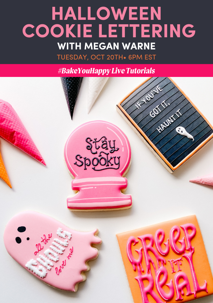 Halloween Cookie Lettering Live Tutorial
