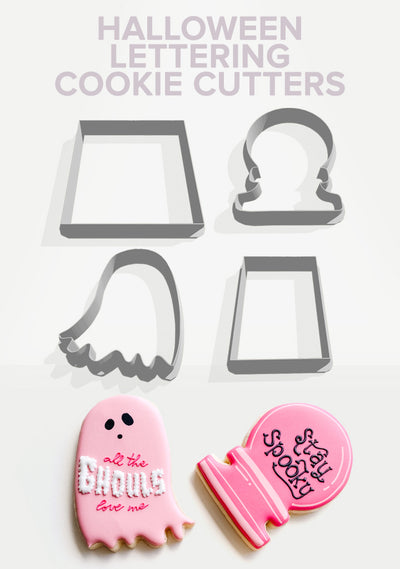 Halloween Lettering Cookie Cutters