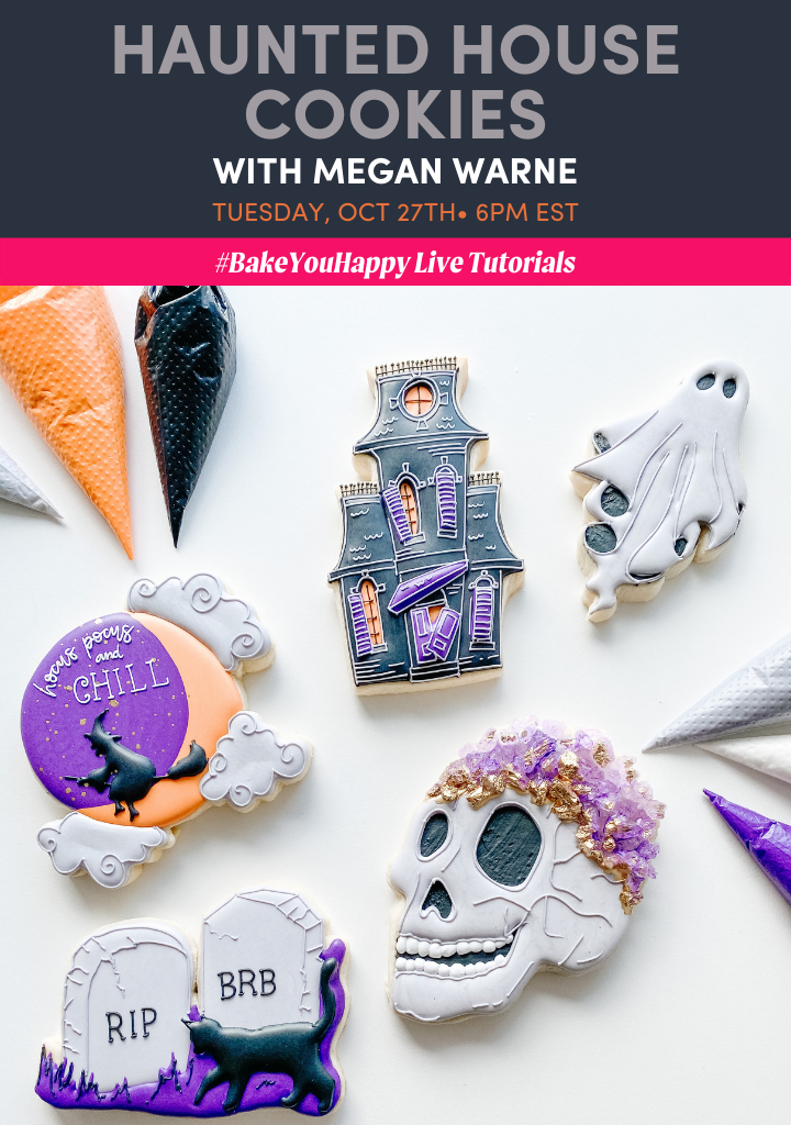 Haunted House Cookies Live Tutorial