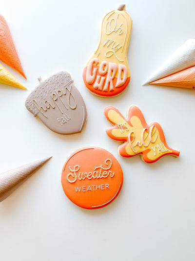 Fall Lettering Cookie Cutters