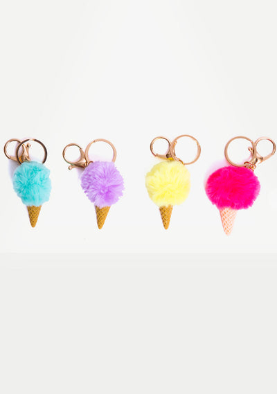 Ice Cream Cone Keychain- NEW!!