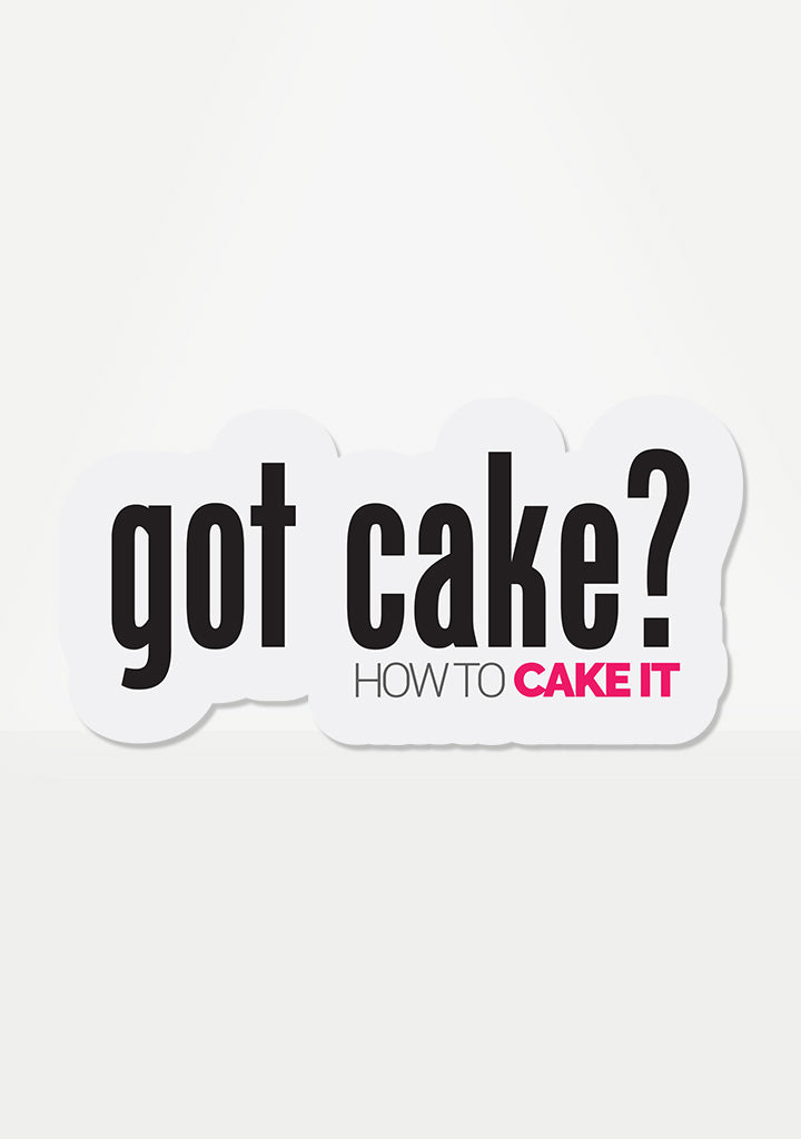 Got Cake? Mix 'Em Up Sticker