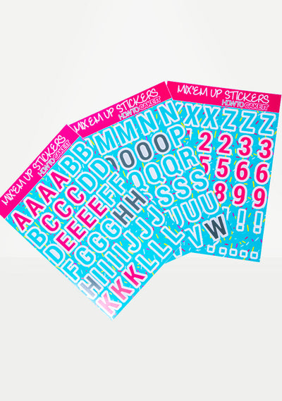 Mix Em' Up Alphabet Stickers