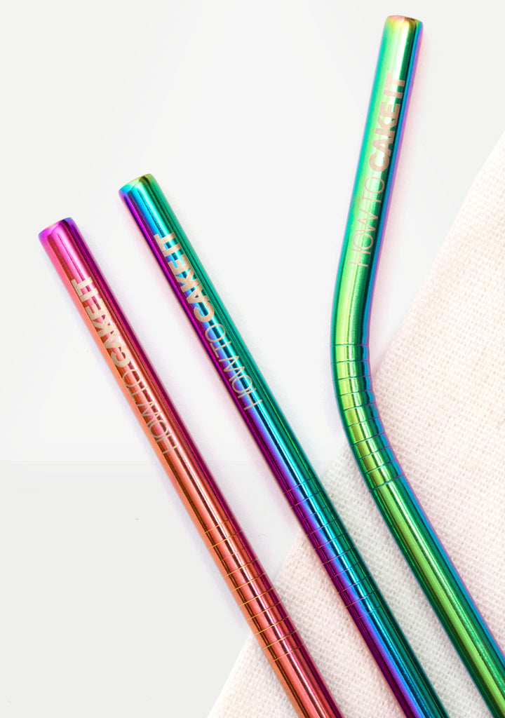 Multi-Chrome Metal Straws