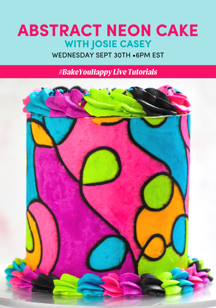 Abstract Neon Cake Live Tutorial