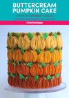 Buttercream Pumpkin Cake Live Tutorial