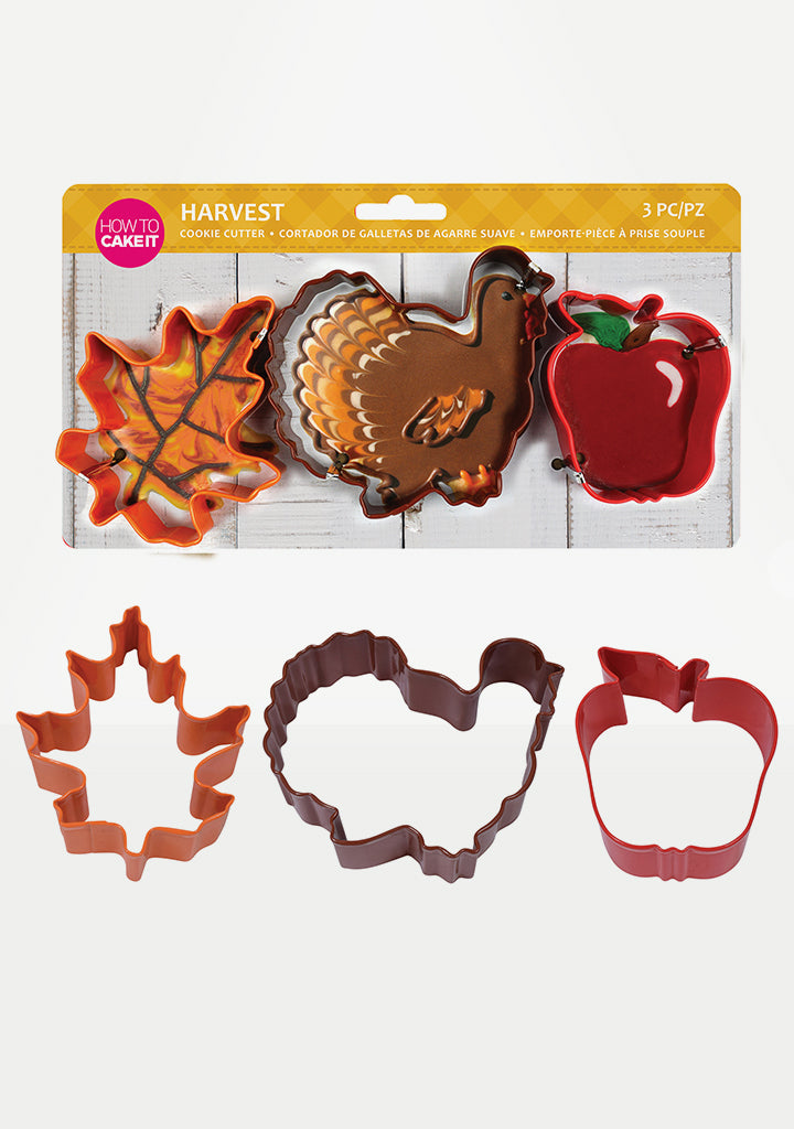 Thanksgiving Harvest Cookie Cutter Set