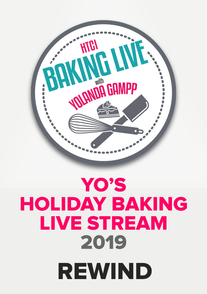 Yo's Holiday Baking Live Stream- REWIND!