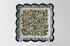 "6"" Square Scalloped Plate"