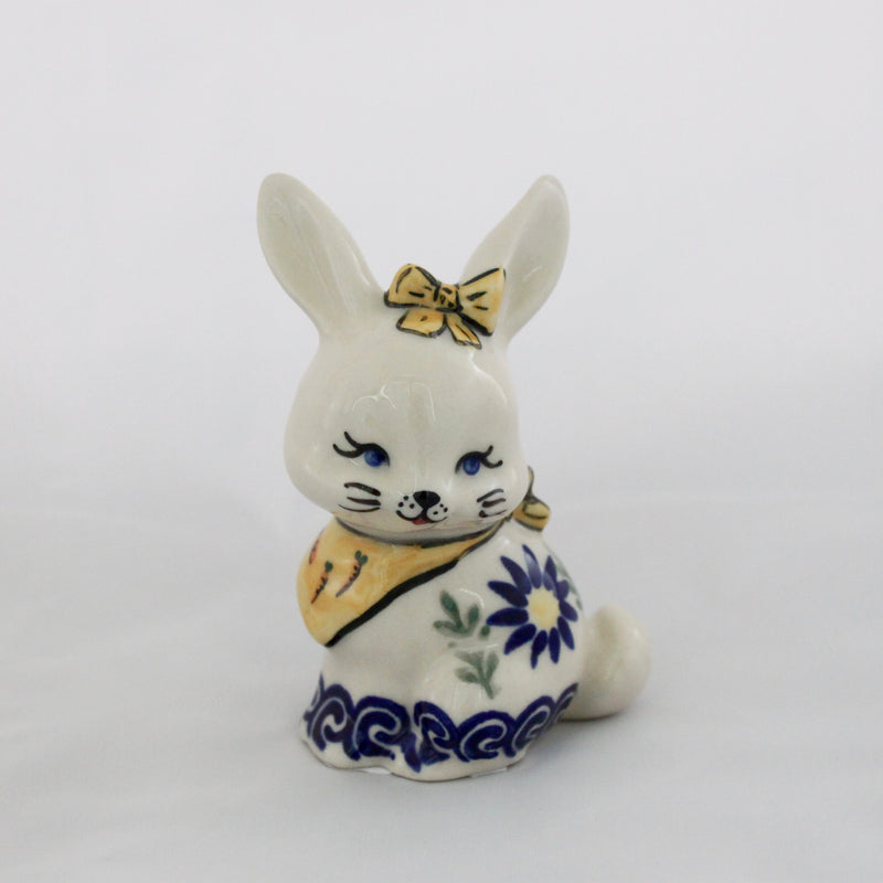 Little Bunny with Bow Figurine